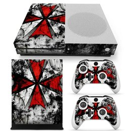 xbox console skins 2019 - Umbrella Style Full Set Skin Sticker Protective Vinyl Decals For Microsoft xbox one S Console and 2 Controllers Cover Sk