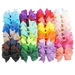 $enCountryForm.capitalKeyWord UK - 40 colors of European and American jewelry v-shaped Bow belt hair band baby bow Satin hairpin GA505