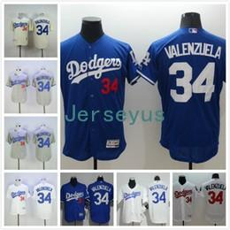 ... Mens Los Angeles Dodgers Jersey 34 Fernando Valenzuela Jerseys White  Blue Gray Flexbase Throwback Baseball Jerseys ... 47225562b