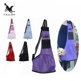 Bags Carry Puppies Australia - TAILUP Pet Dog Carrying Bag Mesh Cloth Puppy Chihuahua Yorkies Small Cat Slings Backpack TOP2028