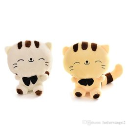 Big Stuffed Mouse UK - Lovely Big Face Cat Stuffed Plush Toys with Big Tail Cartoon Style Graduation & Birthday Gift for Children