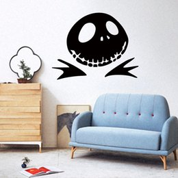 Funny Halloween Pumpkin Jack Nightmare Before Christmas Art Vinyl Wall  Stickers Living Room Suitable For Bedroom DIY