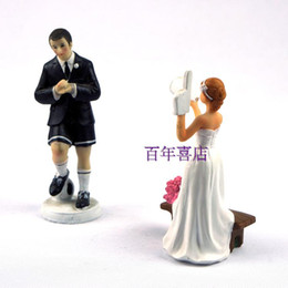 decorate ceramics NZ - The wedding cake decorated Football Cheerleaders doll Ornaments New Year decorations Home Furnishing resin