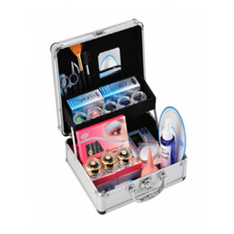 Barato Kit Profissional De Chicote-Hot Professional False Eye Lash Eyelash Extension Full Kit Conjunto de cola Eyelash Ferramentas de enxertia com Case Cosmetic Set us6