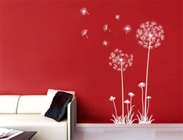 Bedroom wall caBinet design online shopping - Dandelion Wall stickers decoration decor home decals fashion waterproof bedroom living sofa family household glass cabinet gift