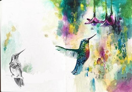 $enCountryForm.capitalKeyWord NZ - Framed Colorful Abstract Birds and Flowers,Pure Hand Painted Modern Wall Decor Abstract Animal Art Oil Painting On Canvas.Multi size al-Dafe