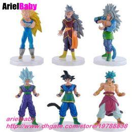 $enCountryForm.capitalKeyWord Canada - New 6PCS DBZ Dragon Ball Z Super Saiyan Goku Vegeta Gohan Dragonball WCF Toy G4 Anime Action Figure 15cm Kids Doll