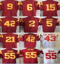 7e3859695 5 Reggie Bush 43 Troy Polamalu 42 Uchenna Nwosu men NWT USC Trojans REGGIE  BUSH SIGNED USC TROJANS 5 RED NIKE AUTHENTIC ON FIELD NCAA JERSEY ...