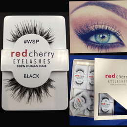 Human Lashes NZ - 120 Pairs lot Free DHL False Eyelashes 100% Human Hair Eye lashes Red Cherry Makeup Beauty Wholsale
