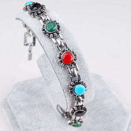 $enCountryForm.capitalKeyWord Canada - The new Europe and the United States selling retro bracelet small sun-shaped multicolor gem diamond alloy bracelet cheap wholesale