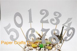 Glitter Number Cake Toppers Online Glitter Number Cake Toppers for