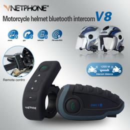 V8 BT Interfone com Controle Remoto FM NFC 5 Pilotos Intercomunicador Motocicleta Intercomunicador V8 Bluetooth Motocicleta V8 motos venda por atacado