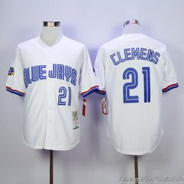 Roger Clemens - Wikipedia 21 Roger Clemens Jersey Toronto Blue Jays White 1997  Throwback Jerseys Stitched Shirt Fast Shipping ...
