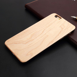 handmade wood phone cases Canada - U&I Real Handmade Natural Classical Blank Thin Wood cell phone case with Rubber coating Cover Phone case