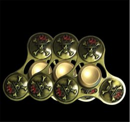 $enCountryForm.capitalKeyWord NZ - Fidget Skull Fidget Spinner Metal Spinning Top Triangle Round Head Fidget Spinners Metal Finger Toy Torqbar Desk Toys Anti Stress