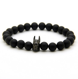 Chinese  Roman Knight Hero Beads With Matte Agate Stone Onyx Stone Bracelet Fine Men Women Charms Jewelry manufacturers