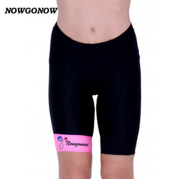 girl riding bicycle Australia - Women cycling shorts black pink sportwear lady Fitness summer bike clothing girl pro team riding bicycle wear NOWGONOW gel pad Lycra shorts