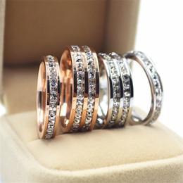 $enCountryForm.capitalKeyWord NZ - HOT 18K rose gold plated rings for women and men golden full cz diamond couples rings for lovers wedding Finger Rings jewelry