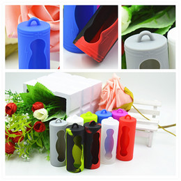 Ion sIlIcone online shopping - 26650 Battery Cover Box Silicone Protective Case Colorful Soft Rubber Skin Protector Holder For E Cigs Vape li ion Batteries Mod