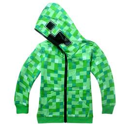 minecraft halloween costume teen autumn funny green zipup hoodie sweatshirt for kids boys creeper costumes