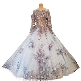 Chinese Sexy Crystal Dress UK - Discount Chinese Luxury Ball Gown Wedding Dresses with Flower Appliques Long Wedding Guest Dress Beaded Crystal Nice Tulle