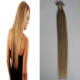 Bleach Blonde Human Hair Extensions NZ - #613 Bleach Blonde Keratin stick tip hair extensions 100s u tip hair extensions human 100g pre bonded human hair extensions