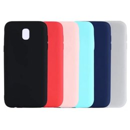 samsung a3 cell phone covers 2019 - Ultra thin Matte Soft TPU Silicone Case For Galaxy (A7 A5 A3 J5 J7)2017 Cases Rubber Rubber Colorful 2017 Back Cell Phon