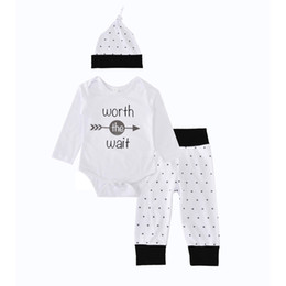 f6bbb0ddf Baby Winter Clothing Sets Arrow Boys Girls Winter Autumn Spring Casual  Suits Shirts Pants Hat Infant Outfits Kids Tops & Shorts 0-24M