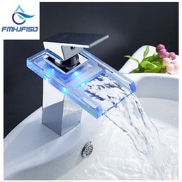discount modern wall mount bathroom faucets wholesale free shipping wholesale and retail polished chrome led