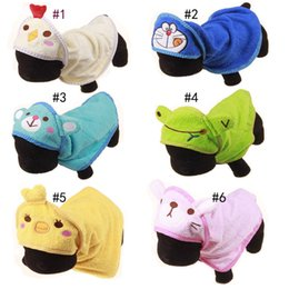 Grooming Towels NZ - New cartoon pure cotton bath towel, bath robe, lovely small animal, pet dog towel 6 styles, 3 specifications