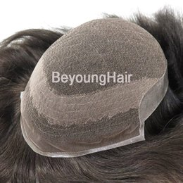 $enCountryForm.capitalKeyWord Australia - Factory direct French lace with PU back sides human hair replacement for men, human hair toupee for men