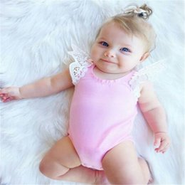 toddlers christmas onesies 2019 - DHL Lace Romper INS Baby Girl Kids Toddler Clothes Onesies 2017 Diaper Covers Bloomers Dress Jumper Fly Sleeve Newborn P