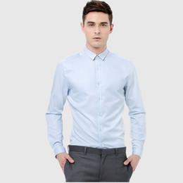 Custom Shirt Men NZ - Men suits shirt blue fashion handsome formal business occasions suits shirt long sleeve custom groom wedding tuxedos shirt