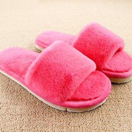 Home plusH slippers online shopping - Design Women Slippers Comfortable Ladies Slides Home Indoor Plush Slippers Female Shoes Fur Chaussure Femme
