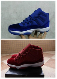 $enCountryForm.capitalKeyWord Australia - Wholesale hot sale 11 XI Velvet Mens Basketball Shoes Red Low High Cut Sneakers 11s Trainers Athletics Sport Shoes