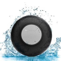 Chinese  Bluetooth Speaker Waterproof Wireless Shower Handsfree Mic Suction Chuck Speaker Car Speaker Portable mini MP3 Super Bass Call Receive manufacturers