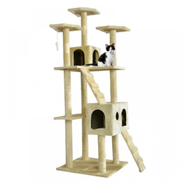 Chinese  All Color Cat Tree Scratcher Play House Condo Furniture Bed Post Pet House manufacturers
