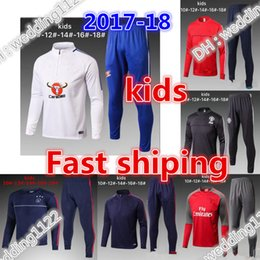 Barato Criança Jogging Terno-Best Kids Long jerseys cidade Real Madrid Tracksuit Jogging Boys Soccer kit Fatos de futebol Youth Sport Wear Crianças Ronaldo training