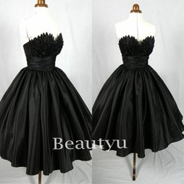 Barato Vestido Curto Espartilho Gótico-Little Black 1950s Mulheres Short Cocktail Dresses 2017 Plus Size Corset Mini Ball Gown Club Wear Vestido formal Gothic Prom Party Evening Gowns