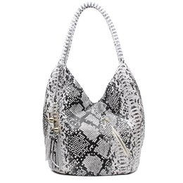 China Wholesale- PROMOTION Luxury Featured Medium Size Shiny Snake And Leopard Pattern 100% REAL LEATHER Shoulder Bags For Women B1431 cheap luxury features suppliers