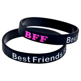 Chinese  1PC Best Friends Forever Silicone Bracelet Fashion Wristband Great To Used In Any Benefits Gift For Music Fans manufacturers