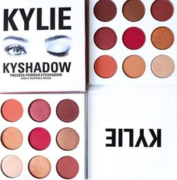 Barato Sombras Do Kit-Kylie Cosmetics Jenner Kyshadow sombra de olho Kit Sombra de olhos BRONZE e BORGOÃO Palette Preorder Cosmetic 9 Colors Free Shipping 50pcs