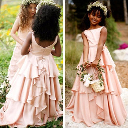 pretty pageant dresses for kids NZ - Brand New Flower Girl Dresses for Wedding 2017 Pretty Blush Pink Little Girls Kids Child Dress Party Pageant Communion Dress