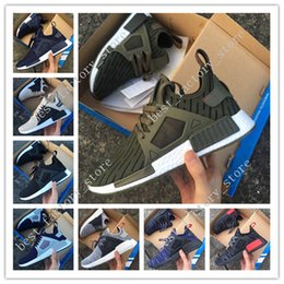 2018 army duck fabric Wholesale NMD XR1 Olive Green Runner Duck Camo Army Green III Sports Trainers Walking Running Shoes Suede Boost sneakers low size 36-45 discount army duck fabric