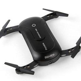 New Mini Drone Camera Canada - New LED Selfie Drone With 0.3MP WIFI FPV Camera Foldable Pocket RC Quadcopter Phone Control Quadrocopter Mini Drone