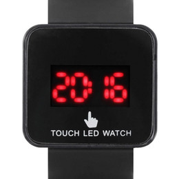 New Watch Touch Screen Australia - New Digital LED Touch Screen Wrist Watch Unisex Men Women Kids School Boys Girls