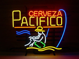 pacifico neon signs 2019 - Fashion New Handcraft Cerveza Pacifico Real Glass Tubes Beer Bar Pub Display neon sign 19x15!!!