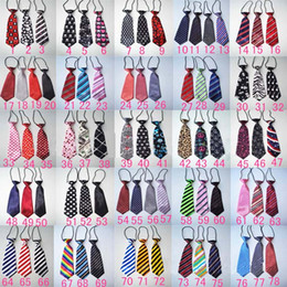 Cravates Pour Enfants Pas Cher-Cravate pour bébés New Stripe Polka Dots Imprimé mariage mariage élastique Cravates Formal Costume Neck Ties-Solid Kids Neck Ties C1038
