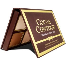 ConCealer perfeCtion online shopping - NEW COCOA Contour Chiseled to Perfection Highlighters Palette Nude Color Face Concealer Chocolate Eyeshadow with Contour Buki Brush GIFT