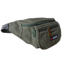 table pouch UK - Free DHL Casual canvas waist bag waist pouch outdoor fanny pack sports bag travel bag